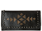 American West Azteca Trifold Wallet (Black/Distressed Charcoal Brown)