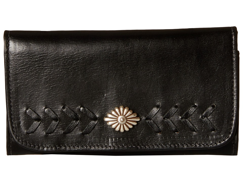 American West - Mohave Canyon Trifold Wallet (Black) Wallet Handbags