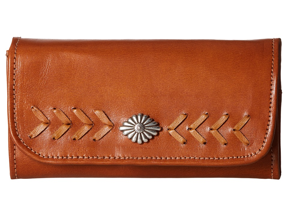 American West - Mohave Canyon Trifold Wallet (Golden Tan) Wallet Handbags