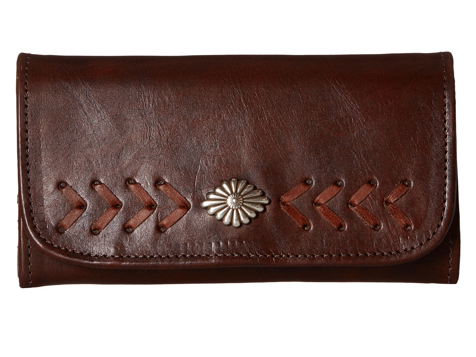 American West - Mohave Canyon Trifold Wallet (Chestnut Brown) Wallet Handbags