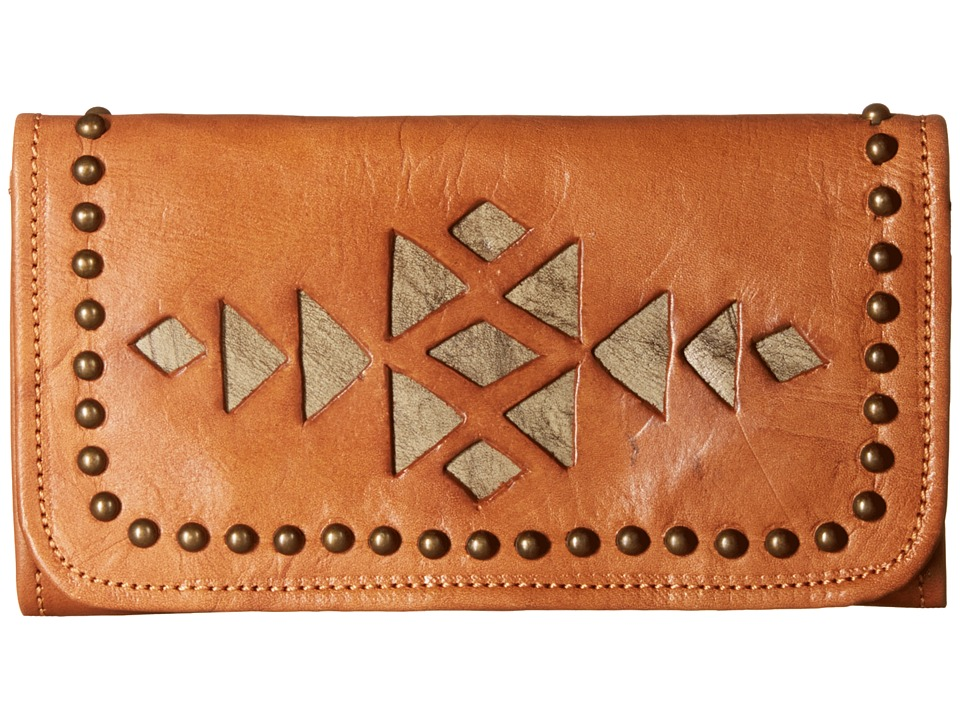American West - Azteca Trifold Wallet (Golden Tan/Sand) Wallet Handbags