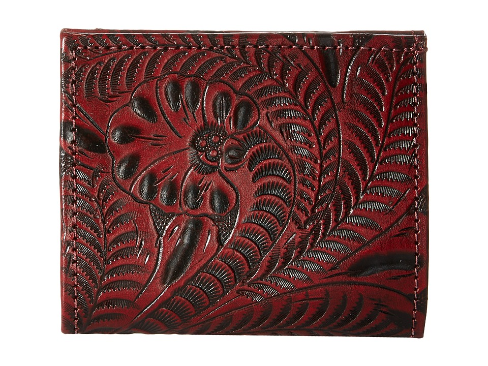 American West - Boyfriend Wallet Bifold Wallet (Distressed Crimson) Wallet Handbags