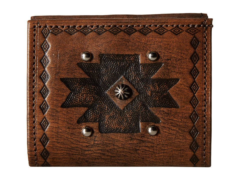 American West - Boyfriend Wallet Bifold Wallet (Distressed Charcoal Brown) Wallet Handbags