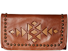American West Azteca Trifold Wallet (Antique Brown/Tan)