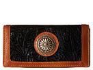 American West Dallas Flap Wallet (Black)