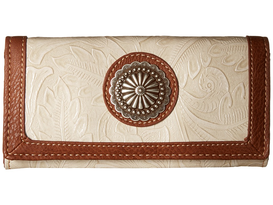 American West - Dallas Flap Wallet (Cream) Wallet Handbags