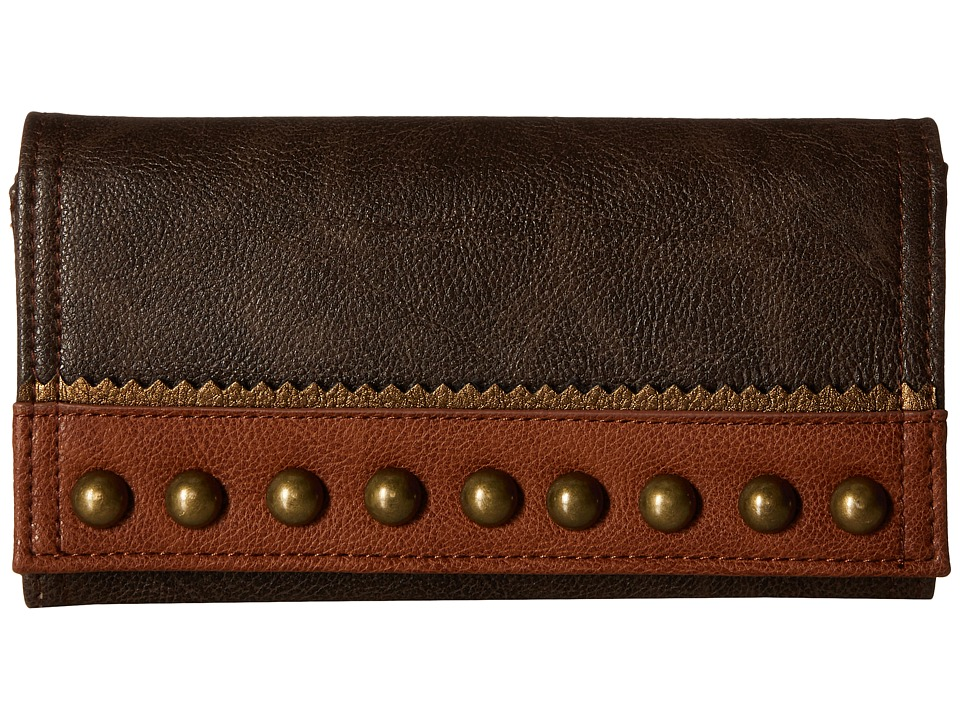 American West - Oak Creek Flap Wallet (Milk Chocolate) Wallet Handbags