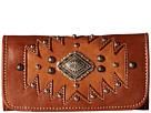 American West Annie's Secret Collection Tri-Fold Wallet (Antique Tan/Golden Tan)