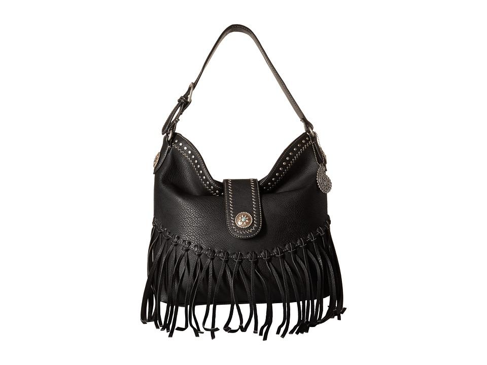 American West - Rio Rancho Hobo Shoulder Bag (Black) Shoulder Handbags