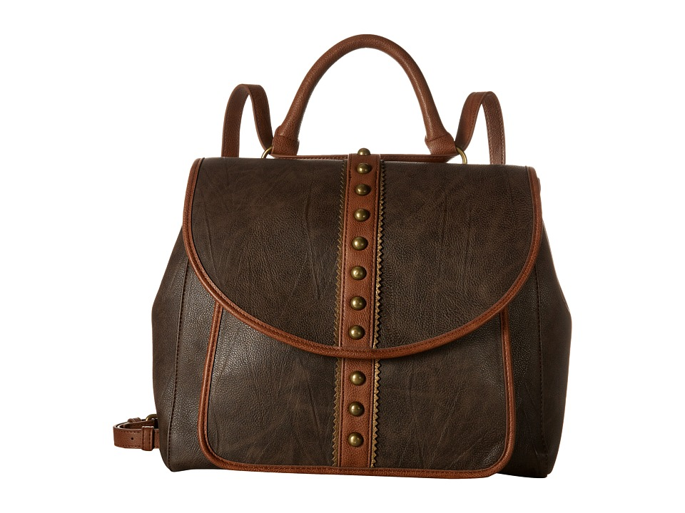 American West - Oak Creek Backpack/Shoulder Bag (Milk Chocolate) Shoulder Handbags