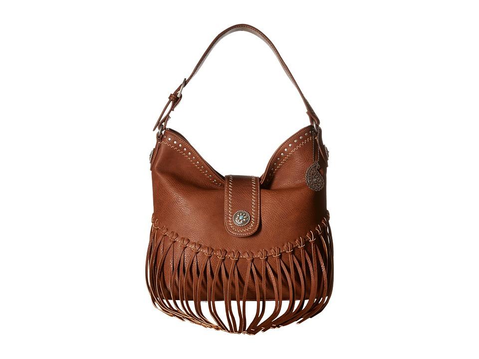 American West - Rio Rancho Hobo Shoulder Bag (Brown) Shoulder Handbags