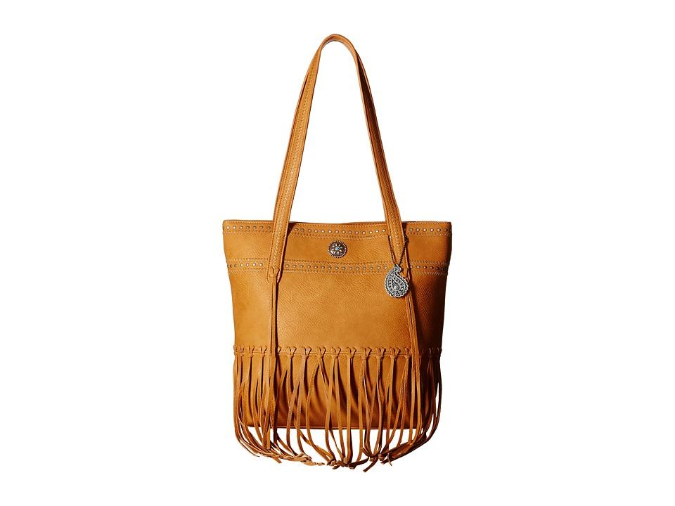 American West - Rio Rancho Zip Top Tote (Tan) Tote Handbags