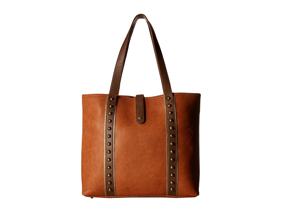 American West - Oak Creek Large Shopper Tote (Golden Tan) Tote Handbags
