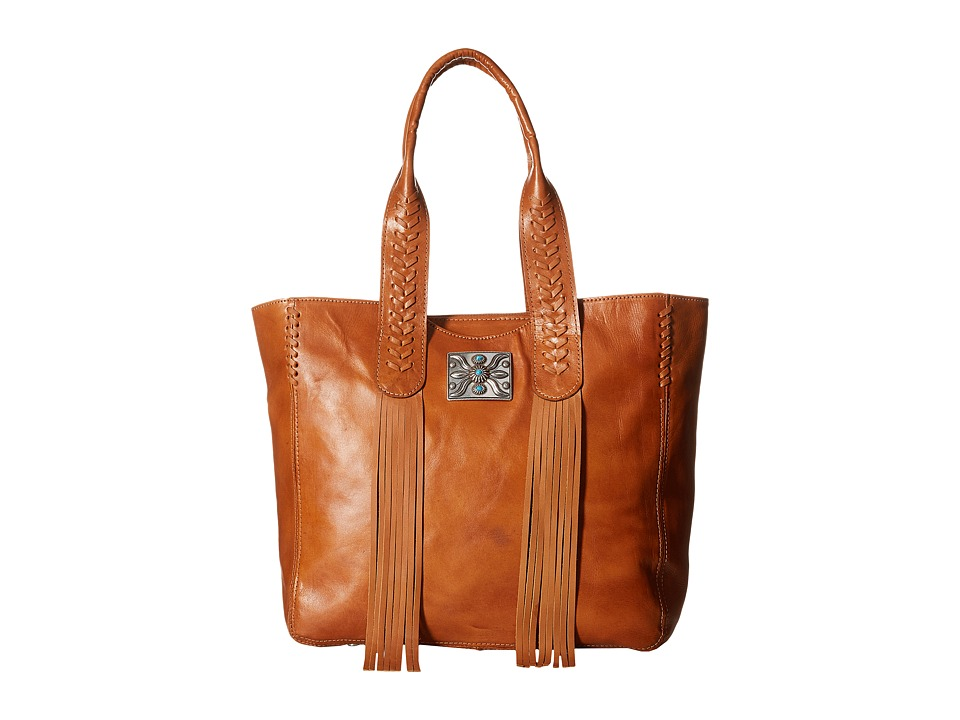American West - Mohave Canyon Large Zip Top Tote (Golden Tan) Tote Handbags