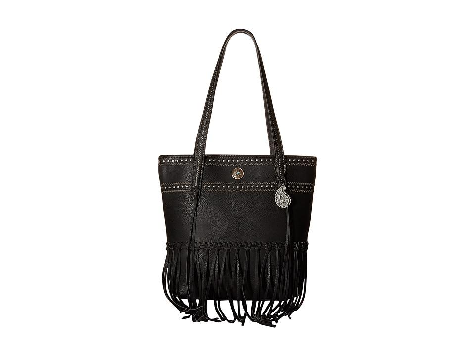 American West - Rio Rancho Zip Top Tote (Black) Tote Handbags