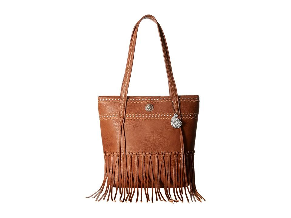 American West - Rio Rancho Zip Top Tote (Brown) Tote Handbags