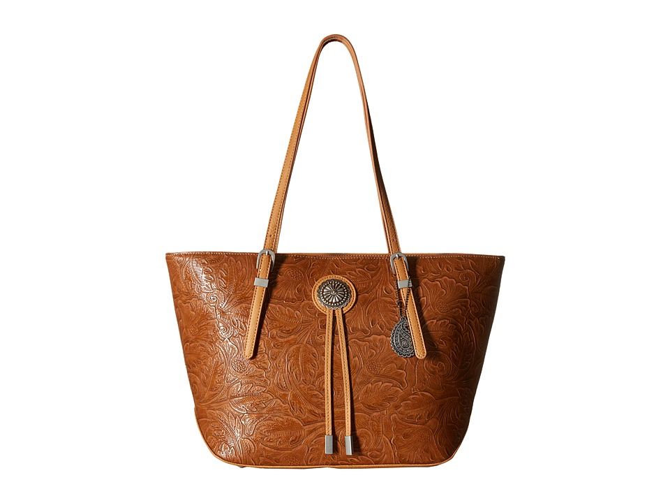 American West - Dallas Zip Top Tote (Tan) Tote Handbags