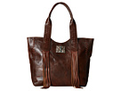 American West Mohave Canyon Large Zip Top Tote (Chestnut Brown)