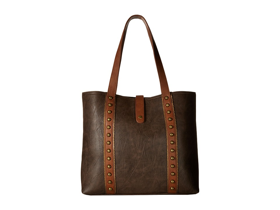 American West - Oak Creek Large Shopper Tote (Milk Chocolate) Tote Handbags