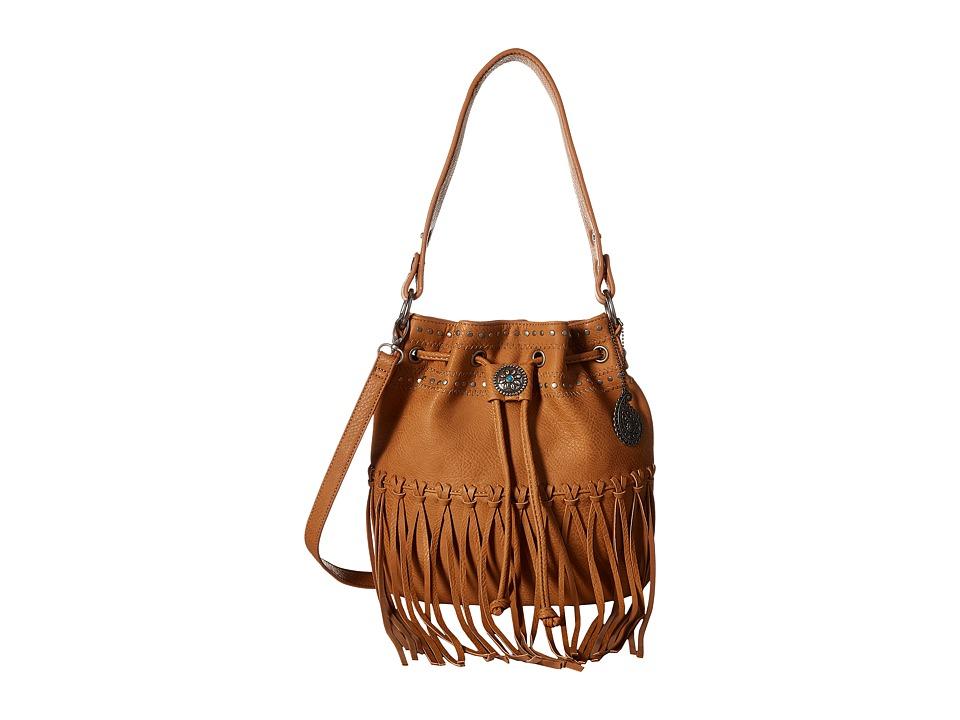 American West - Rio Rancho Drawstring Crossbody (Tan) Cross Body Handbags