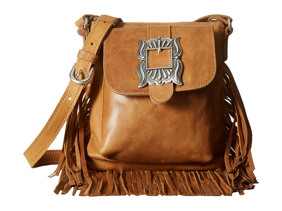 Image of American West - Eagle Feather Soft Crossbody Fringe Bag (Deerskin) Cross Body Handbags