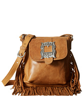 American West - Eagle Feather Soft Crossbody Fringe Bag