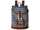 American West Santa Fe Backpack (Navy Blue/Brown)