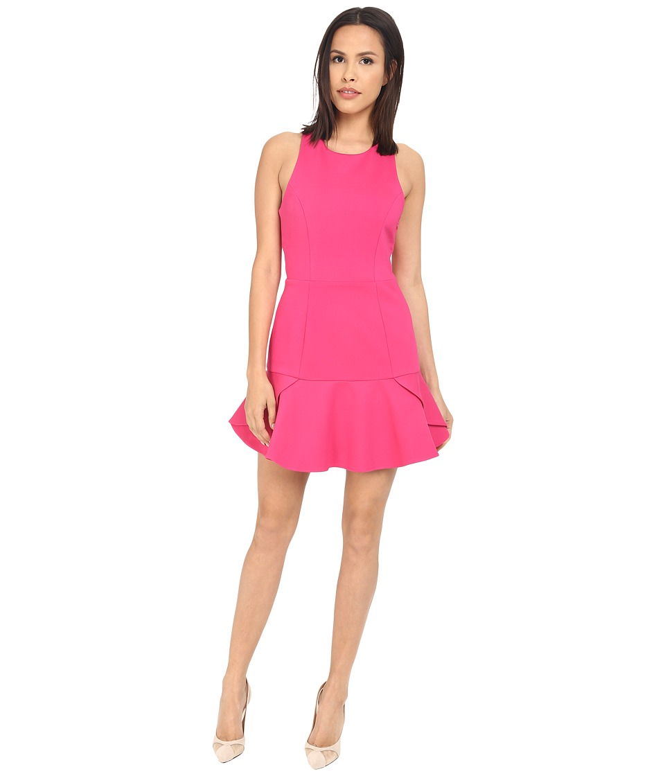 Adelyn Rae Peplum Bottom Dress Deep Pink Womens Dress