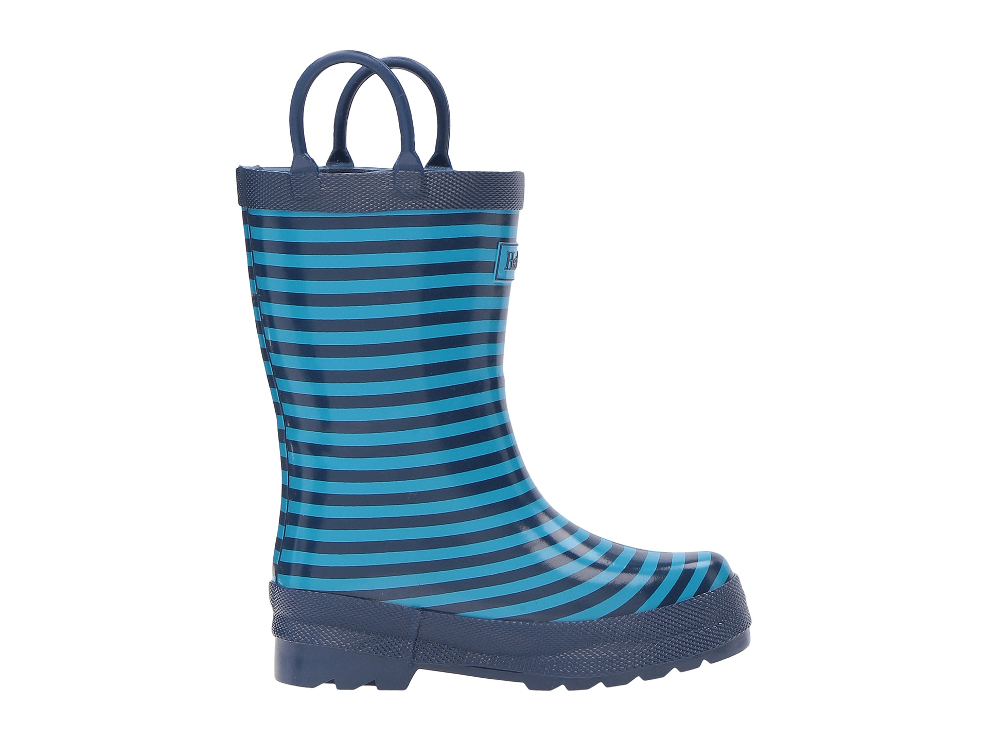 Hatley Kids Navy Striped Rain Boots (Toddler/Little Kid) - Zappos ...