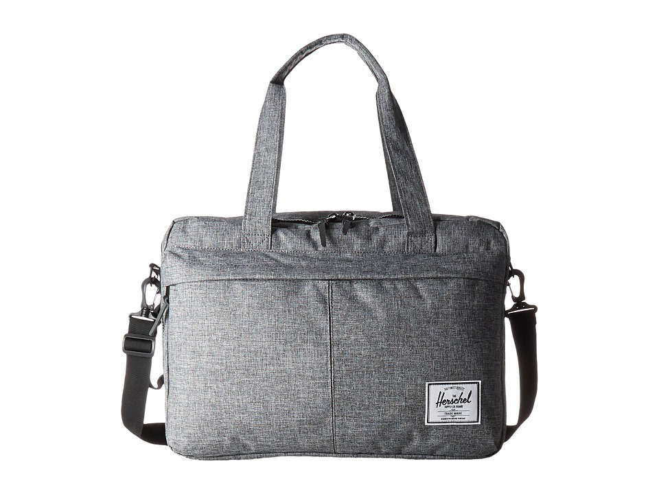 Herschel Supply Co. - Bowen (Raven Crosshatch/Black Pebbled Leather) Duffel Bags