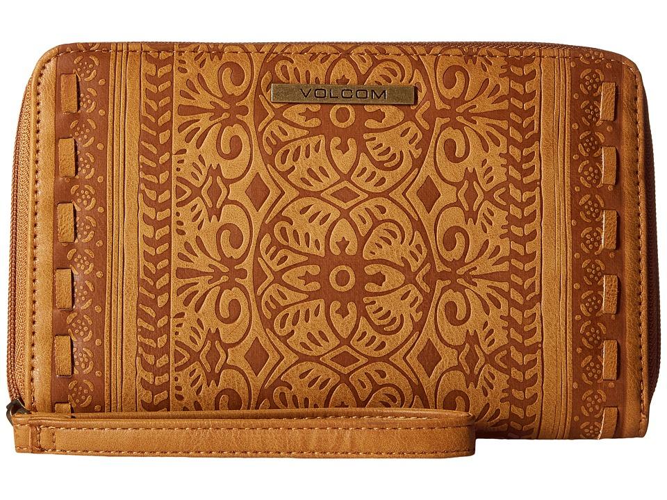 Volcom - Rebel Rose Large Zip Wallet (Tan) Wallet