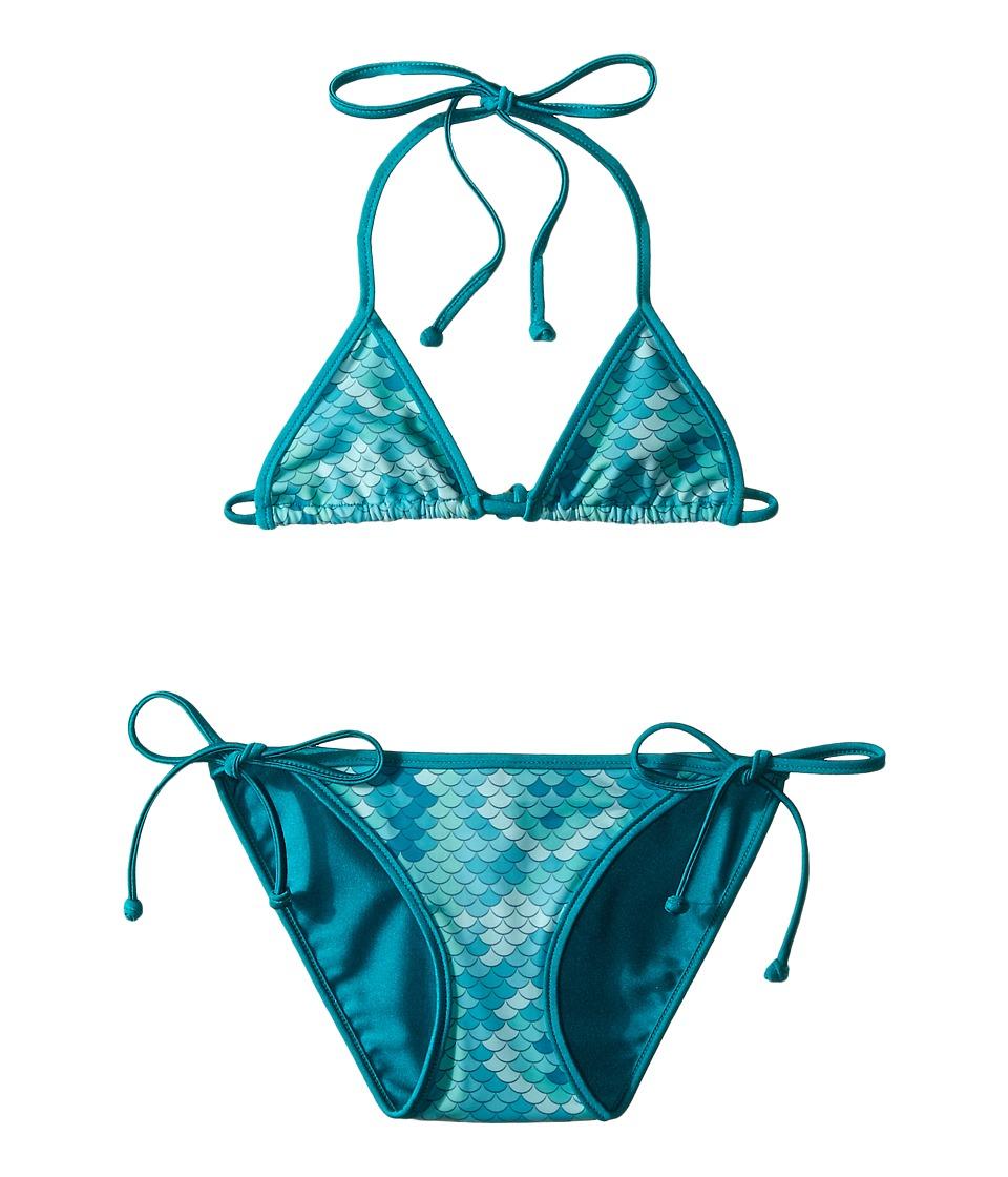 Bowie X James Electric Eel Swim Set Toddler/Little Kids/Big Kids Seafoam Girls Swimwear Sets