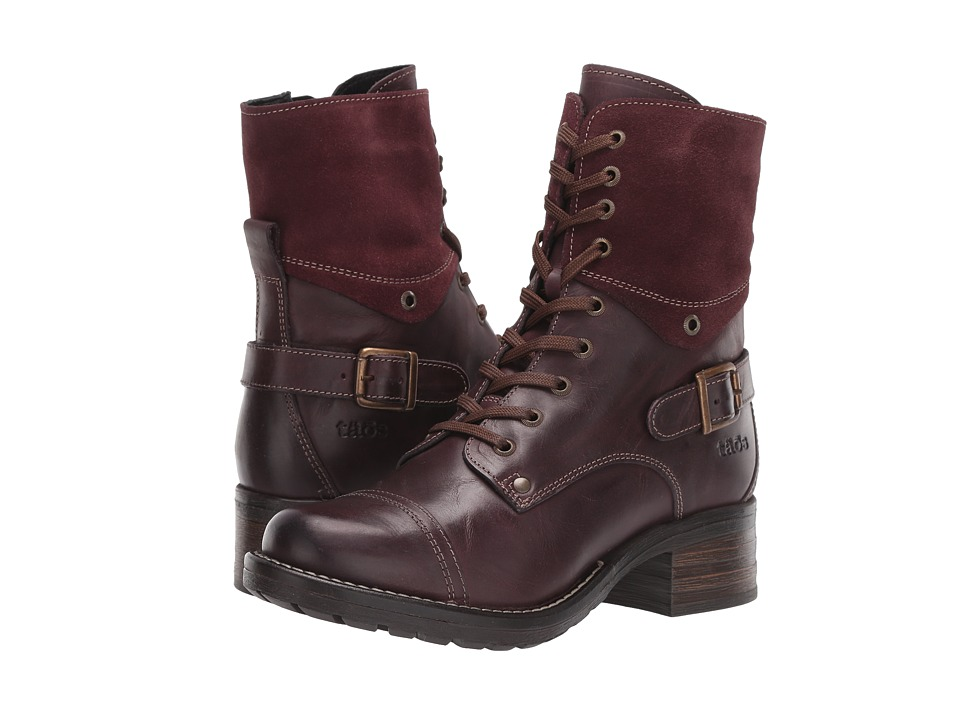 Taos Footwear - Crave (Bordeaux) Women's Zip Boots