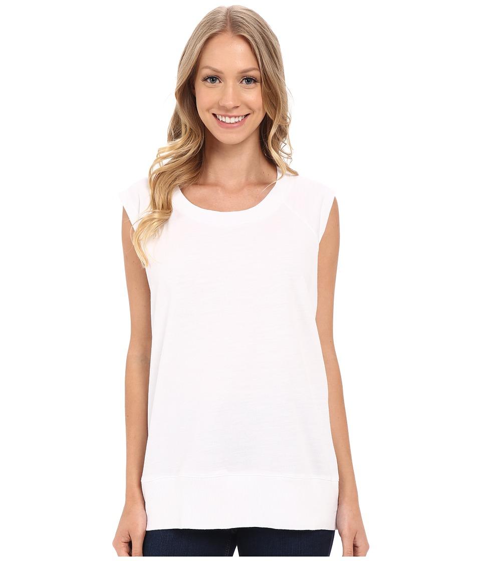 Allen Allen Sleeveless Sweatshirt White Womens Sleeveless