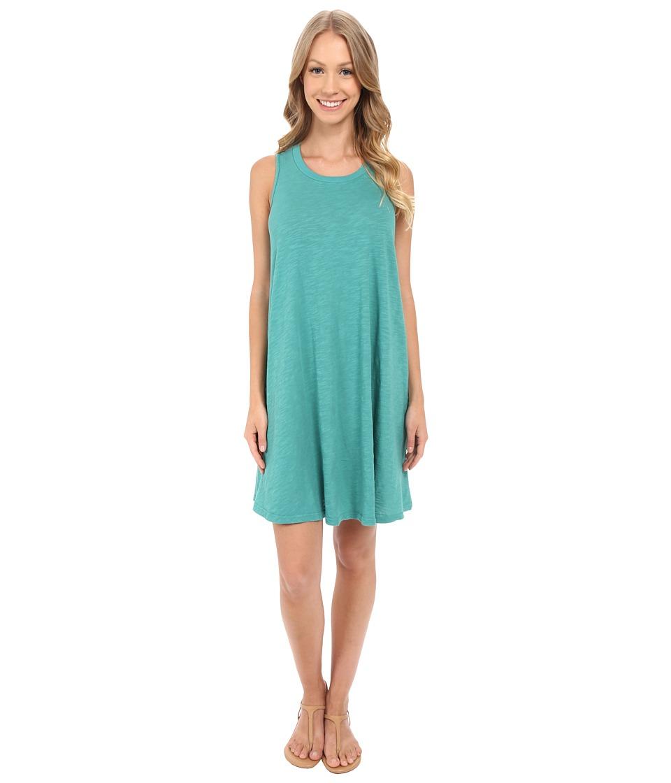 Allen Allen Swing Dress Emerald Womens Dress