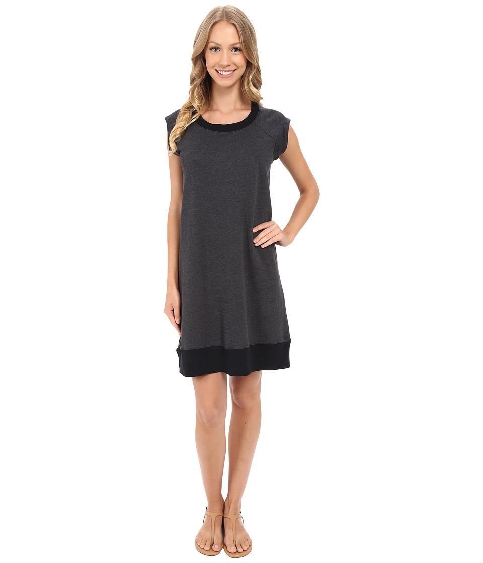 Allen Allen Sweatshirt Dress Black Womens Dress