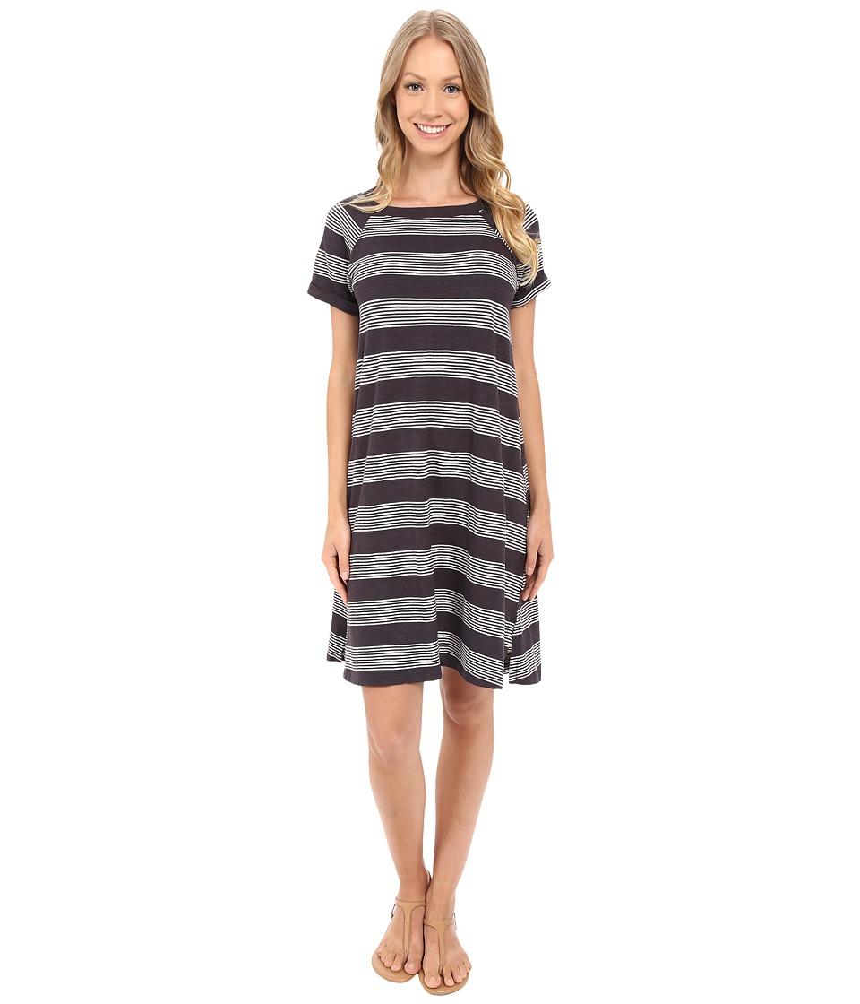 Allen Allen Stripe T Shirt Dress Jet Grey Womens Dress