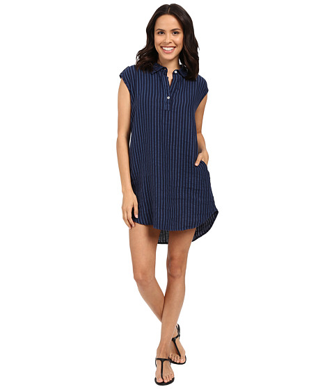 Allen Allen Stripe Linen Dress