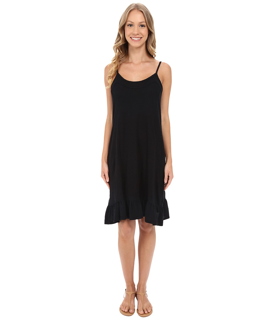 Allen Allen Cami Ruffle Dress Black Womens Dress