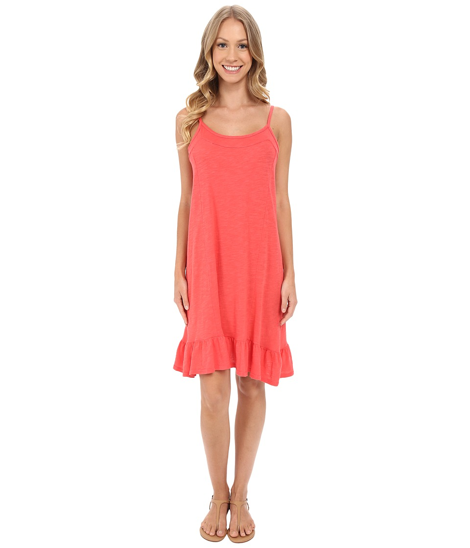 Allen Allen Cami Ruffle Dress Begonia Womens Dress