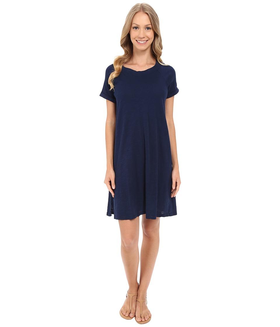 Allen Allen Short Sleeve Sweatshirt Dress Lapis Womens Dress