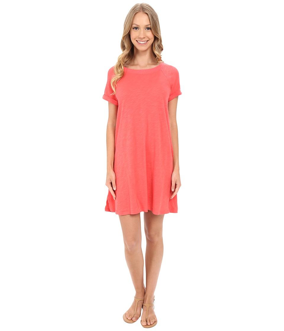 Allen Allen Short Sleeve Sweatshirt Dress Begonia Womens Dress