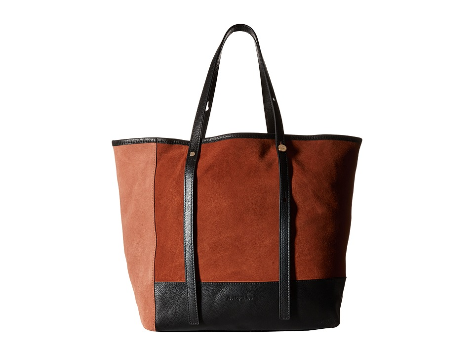 See by Chloe Denim Patchwork Tote Chocolate Brown Tote Handbags