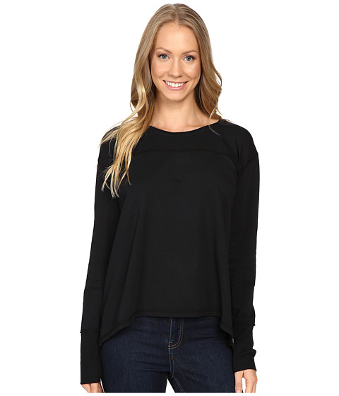 Mod-o-doc - Cotton Modal Spandex French Terry Crossover Back Long Sleeve Pullover (Gibraltar) Women's Long Sleeve Pullover