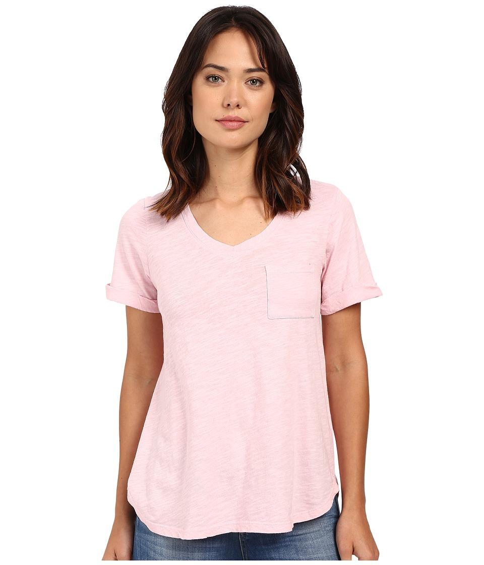 Allen Allen Short Sleeve Vee w/ Pocket Pastel Womens Short Sleeve Pullover