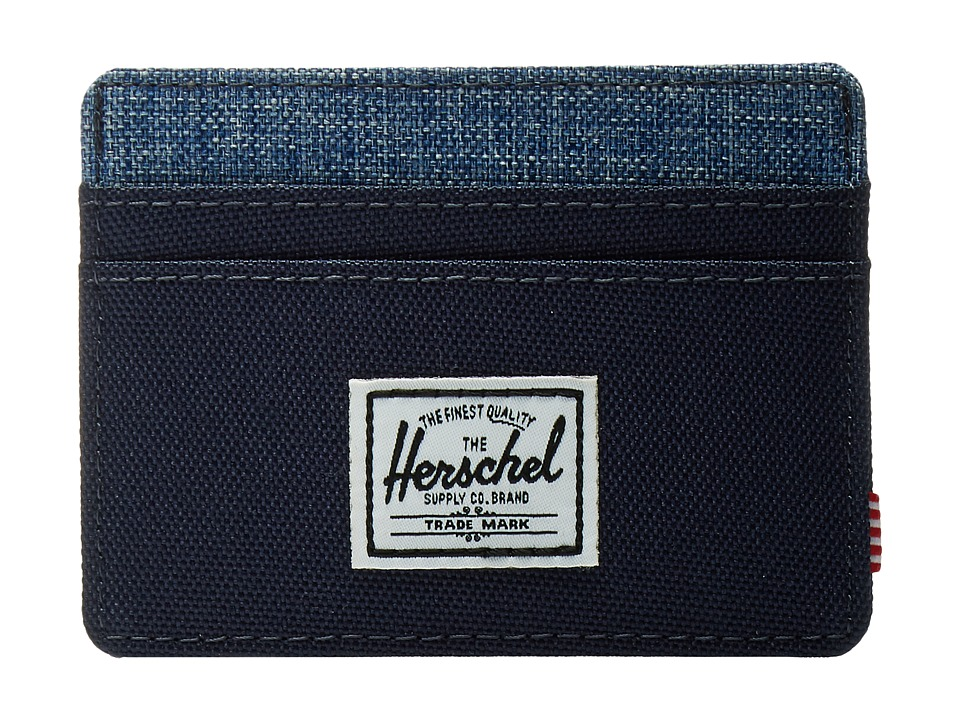 Herschel Supply Co. - Charlie (Peacoat/Limoges Crosshatch) Credit card Wallet