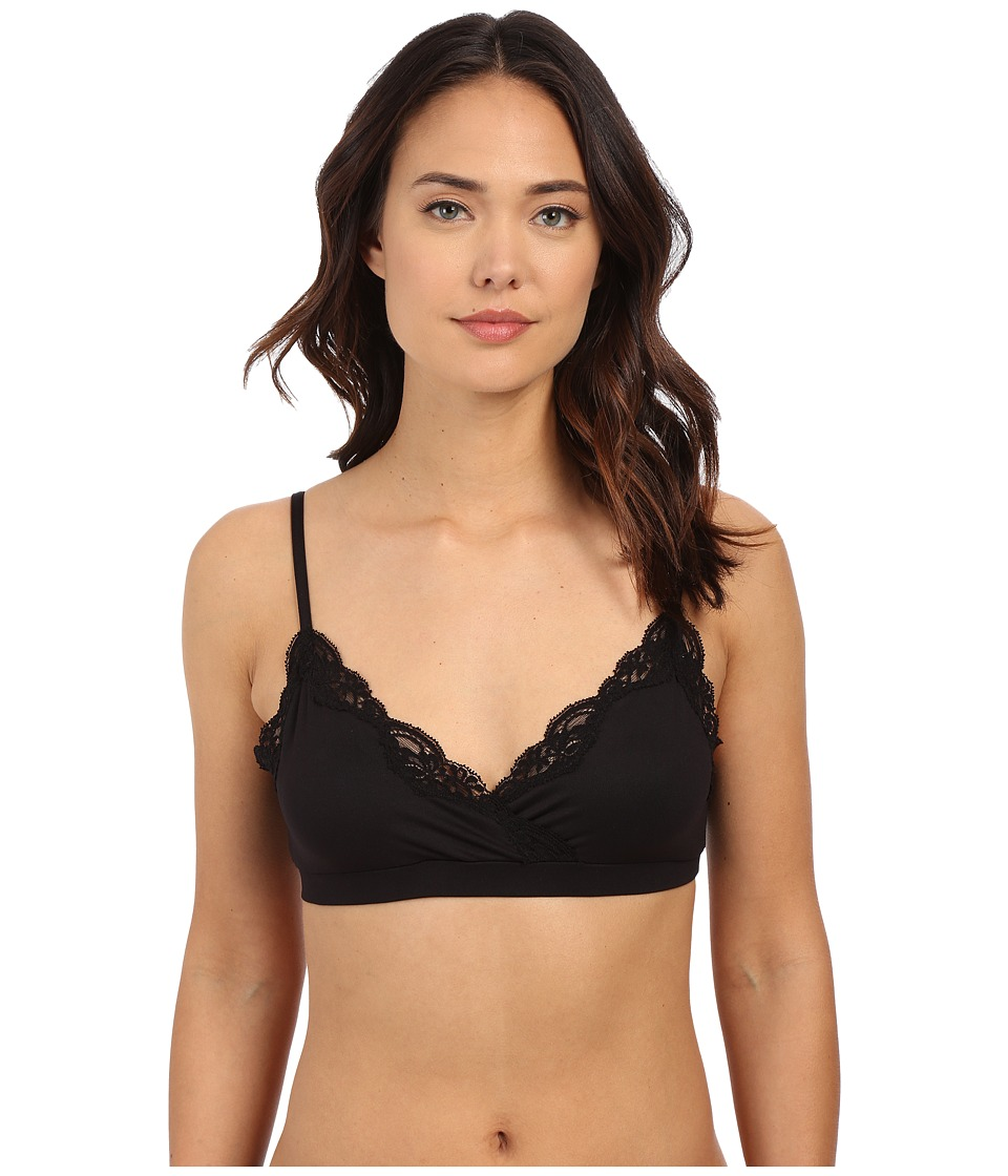 Only Hearts Delicious Surplus Bralette Black Womens Bra