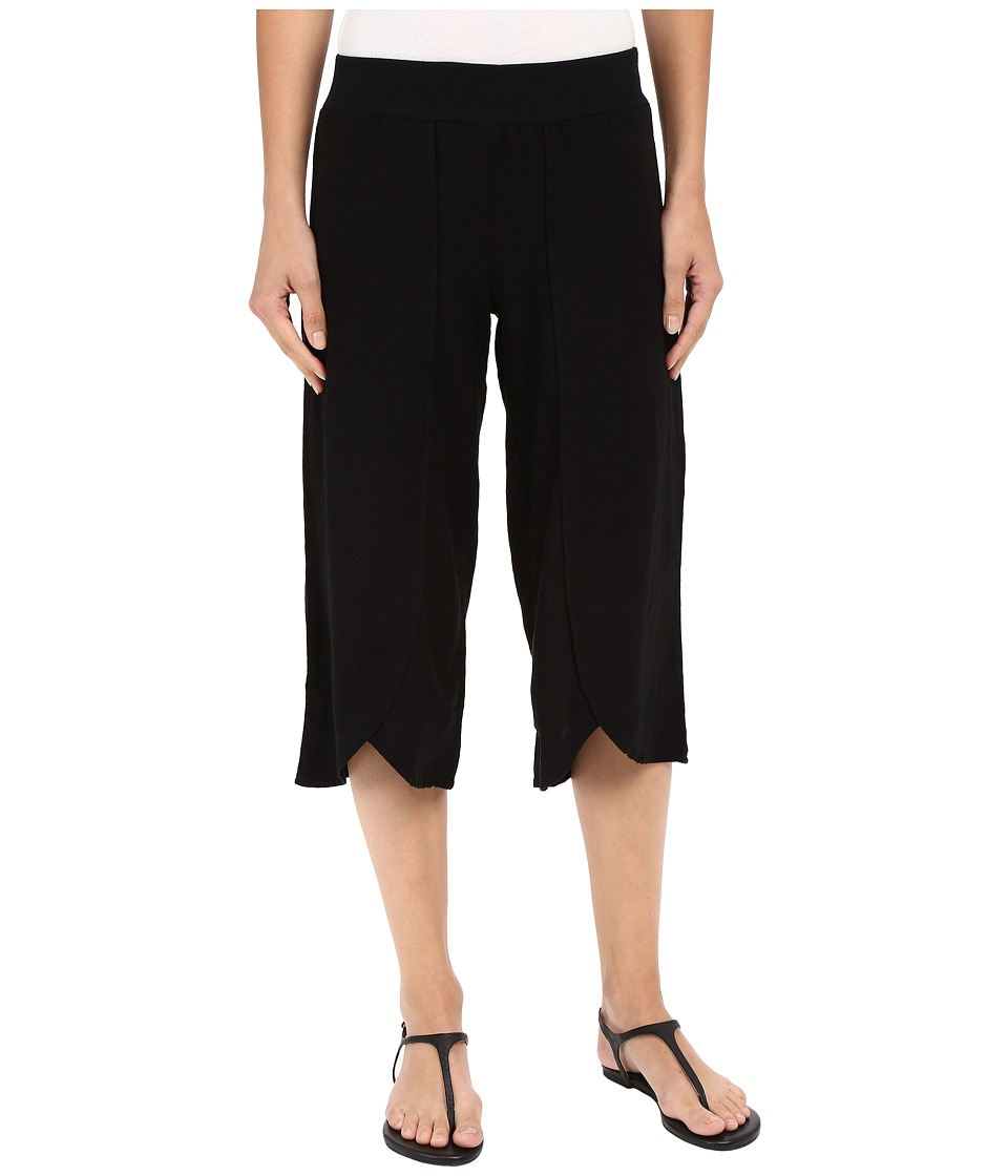 Mod-o-doc - Linen Rayon Crossover Culottes Black Womens Casual Pants $79.00 AT vintagedancer.com