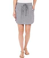 Allen Allen - Stripe Linen Skirt