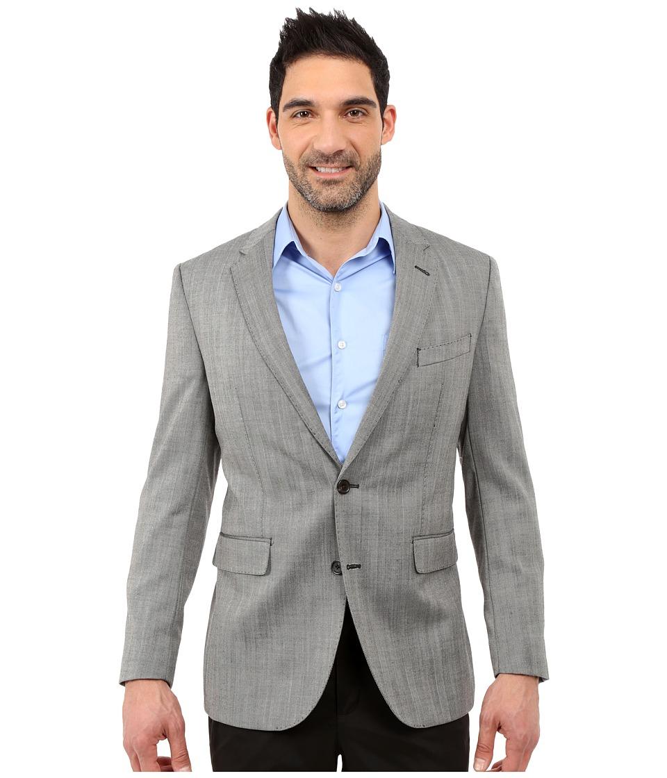 Dockers Battery Street Sport Coat Grey Hbone Mens Jacket